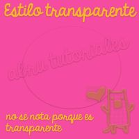 Estilo transparente by AbruTpqpEditions