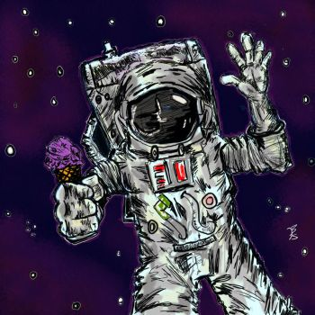 In Space No One Can Hear You Scream For Ice Cream by Brianstumbaugh