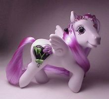 February Violet little pony by Woosie