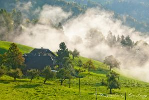 Farm in the morning 1 by MarcZingg