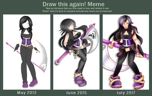Draw this Again Meme: 2013, 2015, 2017 by Uu-hime