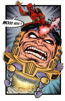 deadpool MODOK by thedavemyers