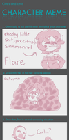 Character meme (Flare) by TheSparkledash