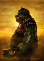 Gamorrean Warrior - Speed painting by MOROTEO56