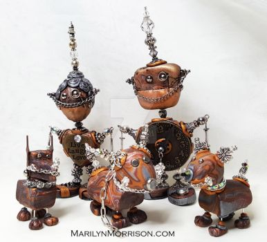 Robot Family by MarilynMorrison