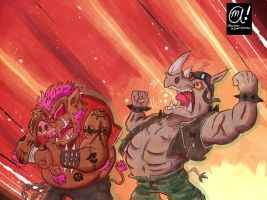 Bebop and Rocksteady!!! by Muhsai