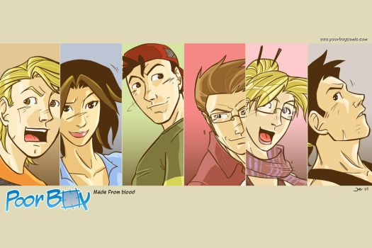 Poorboy Cast by Poorboy-Comics