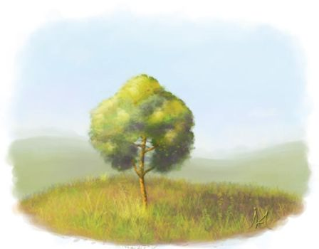 Lonely little tree by Mikosaure