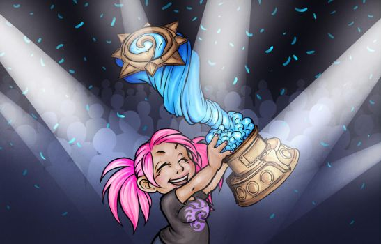Hearthstone Win - Fanzine Illustration by Noxychu