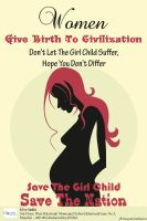 Poster On ~Save Girl Child~ by megamindmaan