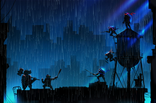 Rainy Rooftop Rumble!!!! by ChasingArtwork