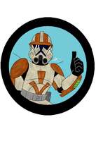 Star Wars - Commander Cody #3 - Weatherd by Frosty-Art
