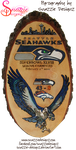 Seattle Seahawks Pyrograph (Wood Burining) by snazzie-designz