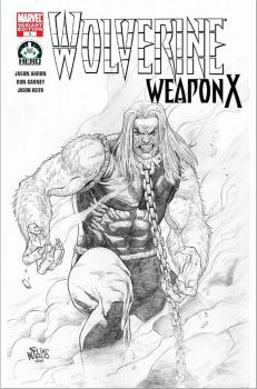 Sabretooth in Wolverine Weapon X blankcover by felixicarusmorales