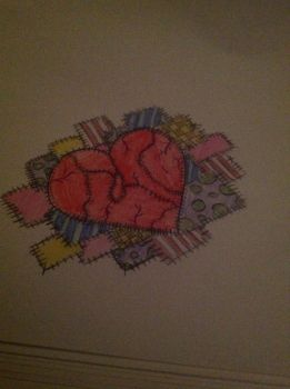 Stitched Heart and Patch Work by MissRebelPrincess96