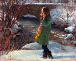 A Winter's Tale - Bryce Liston by OilPaintersofAmerica