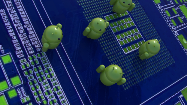 Android Wallpaper circuit by jaruworks