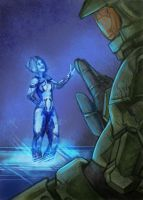 Chief and Cortana by LunaticStar