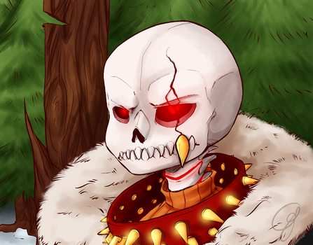 Underfell Sans again by Cogroni