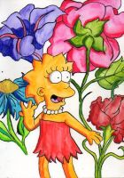 Lisa loves the flowers by Eddie-Lou-Fan