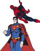 Superman And Spider-Man (Colored) by edCOM02