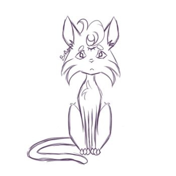 Cat [Sketch] (Sketch This challenge) by homicidal-ashley