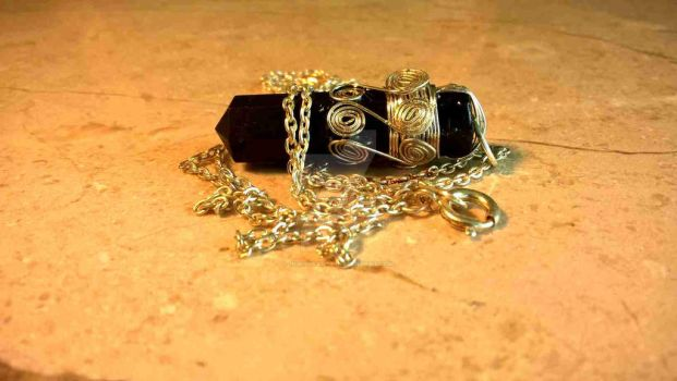 Black Tourmaline point by InVistaArts