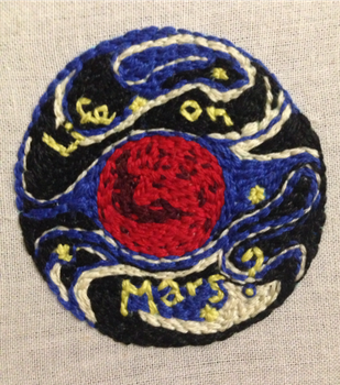 Life on Mars - embroidery by Ghost-Apple