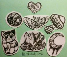 Stickers Available by kawaiiKaylekat
