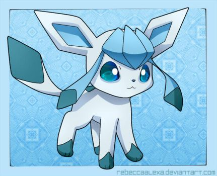 Glaceon Chibi by RebeccaAlexa
