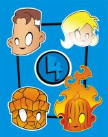 Heads Up Fantastic Four by HeadsUpStudios