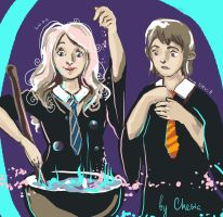 Neville and Luna by MeryChess