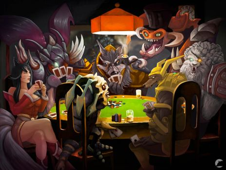 ''Dogs'' playing poker by AdrianWolve