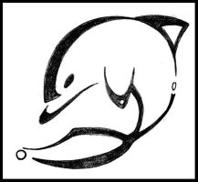 Dolphin outline tattoo - photo#32