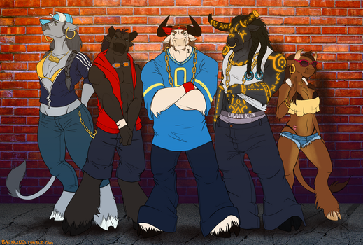 Klumsy Kru And The Steer Clear Gang by baenling
