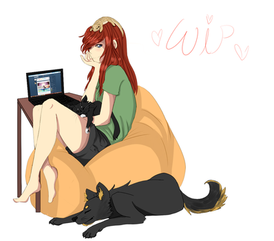 Im SO TIRE DOF WORKING ON THIS by Veilicious