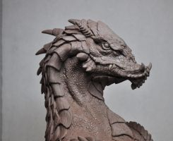 Northern King Dragon Bust sculpt 1 Monster Clay by AntWatkins