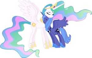 celestia and Luna re-united by Vector-Brony