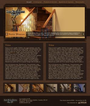 Wood stairs website by Staticx99