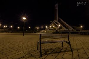 Curch in Vlcince at night by Richie181