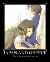 Japan x Greece by MamaCockroach