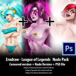 League of legends nude Pack + PSD files by erodraw