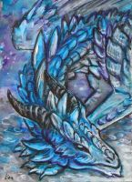 aceo Bluerrion by Kirsch-vanderWit