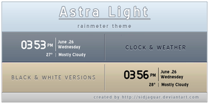 Arista Light Clock n' weather by sidjaguar