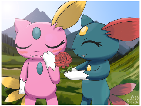 Sneasel Love by pichu90