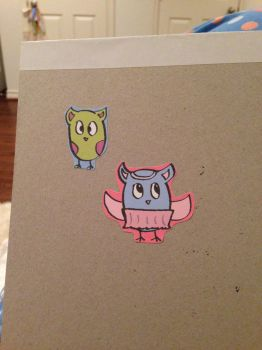 Owl Stickers! by hipsterowls