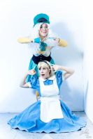 alice and mad hatter by clefchan