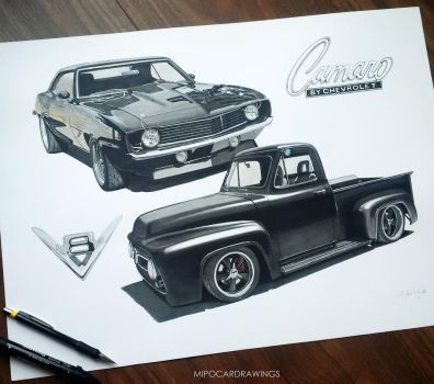 69 Camro 53 F100 project by Mipo-Design