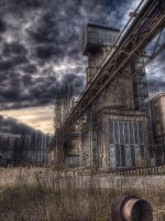 Desolate factory areal by Elly0001