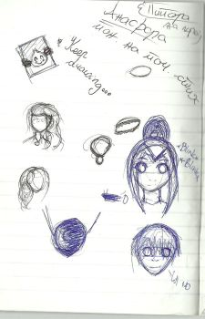 Doodles from class by Asami917